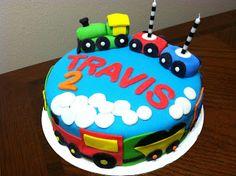 Airplane theme vegan birthday cake plane clouds marshmallow