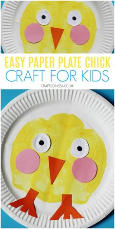Paper Plate Chick {Paint Splat} easy paper plate chick craft for kids paint splat Diy Crafts For Tweens, Easy Toddler Crafts, Easter Crafts For Toddlers, Easy Easter Crafts, Animal Crafts For Kids, Spring Crafts For Kids, Paper Crafts For Kids, Cute Crafts, Preschool Crafts