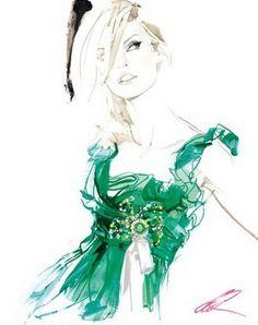 Fashion Illustrations by David Downton | Cuded
