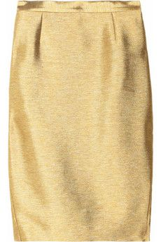 beautifully simple gold pencil skirt by Just Cavalli