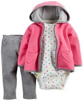 Carter's Baby Girls' 3-Piece Hoodie, Bodysuit & Leggings Set