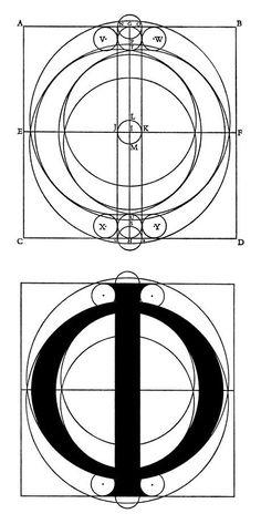 The Greek Character Phi Roman Alphabet, Greek Alphabet, Typographic Design, Typography, Geometric Face, Computer Art, Graphic Design Print, Technical Drawing, Design Process