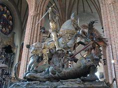 Stockholm - Storkyrkan - St. George and the Dragon