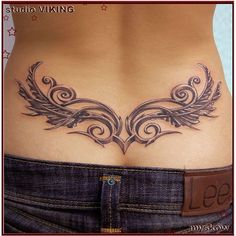 60+ Low Back Tattoos for women ❤ liked on Polyvore featuring tattoos