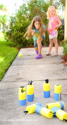 Minion Nerf Game And Bowling