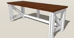 Computer Desk For Two - Free plans