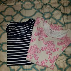 2 tshirts Cute tshirts...Gently used but in great condition. Bundle and save 20% off your total bill. faded glory and white stag Tops Tees - Short Sleeve