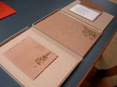 How to box up a handmade book.