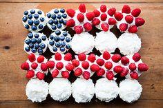 Red + Blue Velvet Cupcake Flag Cake!! // The Year in Food