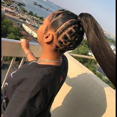 56 Dope Box Braids Hairstyles to Try - Hairstyles Trends Box Braids Hairstyles, Braided Ponytail Hairstyles, Baddie Hairstyles, Rubber Band Hairstyles, Cute Weave Hairstyles, Beach Hairstyles, Hairstyles Videos, Men's Hairstyle, Protective Hairstyles