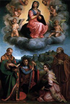 notizie  G.M.  guido michi: ANDREA DEL SARTO-Madonna in gloria con…