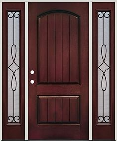 Therma-Tru Classic-Craft Oak Collection fiberglass door with ...