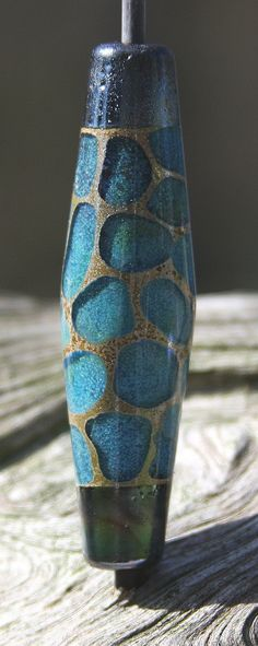 Renewed:  Aqua Wading Pools Handmade Lampworked Glass Bead OOAK by ninaeagle, $21.99