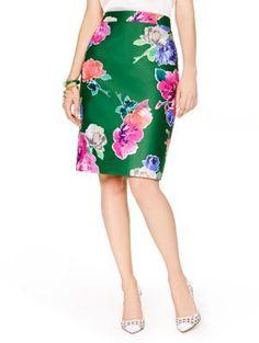 Blooms pencil skirt