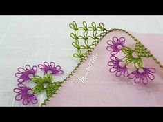Baby Knitting Patterns, Floral, Jewelry, Model, Youtube, Crocheted Lace, Hand Embroidery, Silk, Jewlery