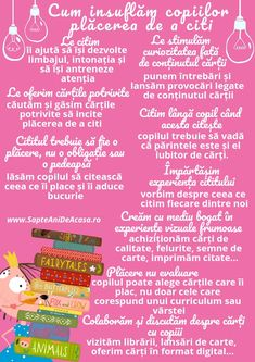 #Parenting #Infografic #copii #cărți #bucurie Cum insuflăm copiilor plăcerea de a citi? Romanian Language, Preschool Learning Activities, School Counseling, Kids Education, Love Book, Kids And Parenting, Montessori, Kindergarten, Homeschool