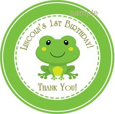 Frog Baby Shower Stickers - Frog Baby Shower Favor - Frog Party Stickers - Frog Birthday Party Stickers - Frog Party Favor