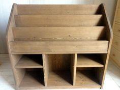 木の絵本棚Bワイド(カラー:チーク)可動棚付 送料無料