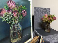 Oil Paintings, Still Life, Oil On Canvas, Glass Vase, Home Decor, Art, Art Background, Decoration Home, Room Decor