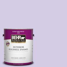 BEHR Premium Plus 1-gal. #640A-3 Potentially Purple Zero VOC Eggshell Enamel Interior Paint
