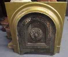 Fine antique victorian iron summer fireplace cover cincinnati ...