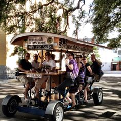Located in Downtown Savannah, Georgia, Savannah Slow Ride is the original, pedal powered, eco-friendly way to see Savannah. Our fifteen person bicycle tours take you through Savannah's beautiful historic downtown. Ga Usa, Georgia Usa, Savannah Georgia, Savannah Smiles, Savannah Chat, Savannah Tours, Visit Savannah, Haunted Tours, No Boys Allowed