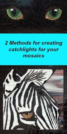 There are two methods I used to create the catch light in these mosaics. Read about them here! Mosaic Diy, Mosaic Crafts, Mosaic Projects, Mosaic Glass, Mosaic Tiles, Stained Glass, Glass Art, Wood Mosaic, Mosaic Mirrors