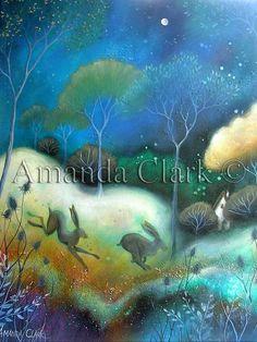 amanda clark art images   Between. An art print by Amanda Clark. by earthangelsarts on Etsy, £ ...
