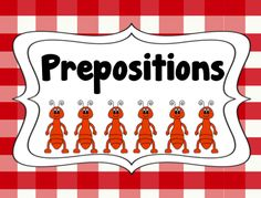 FREE preposition packet