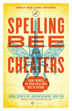 Spelling Bee for Cheaters : Poster by Aesthetic Apparatus ::: #aestheticapparatus #screenprint #spellingbee