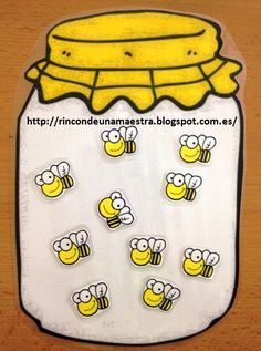 Rincón de una maestra: Los botes caza-abejas                                                                                                                                                      Más Educational Activities For Toddlers, Bee Activities, Nursery Activities, Kindergarten Activities, Preschool, 5 Little Monkeys, Teachers Aide, Petite Section, Bee Crafts