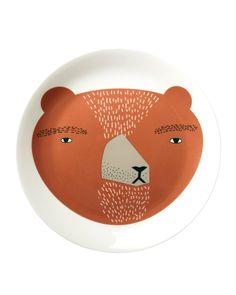 Bear Plate by Donna Wilson