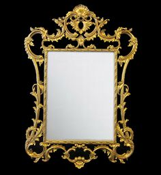 Ornate Gilt Mirror / Gold Mirror 90cm x 130cm / Dutch Connection