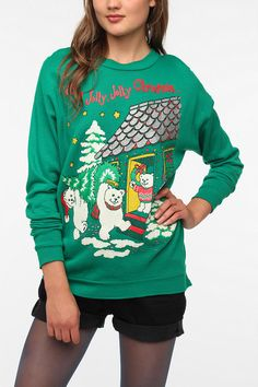 Urban Renewal Vintage Ugly Holiday  Sweatshirt #holiday #urbanoutfitters...is it bad i really want this horrible sweater?