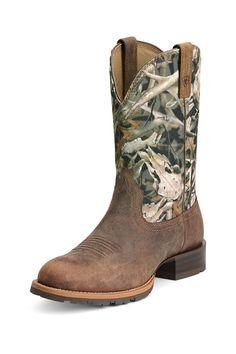 c8e0d7ec3 Ariat Hybrid Rancher Camouflage Men s Cowboy Boots - HeadWest Outfitters  Botas Cuadra