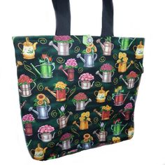 Gardeners Shopping Bag by SimJaTa on Etsy, £16.00