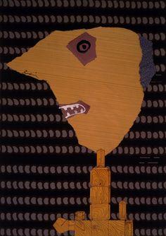Enrico Baj - Profilo (1960) Também um dos meus preferidos na exposição que vi em Serralves em agosto de 2015