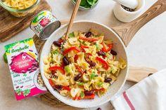 Makaron smażony z warzywami i jajkiem - Warzywne Inspiracje : Warzywne Inspiracje Paella, Bento, Pasta Salad, Tacos, Mexican, Ethnic Recipes, Food, Gastronomia, Food Food
