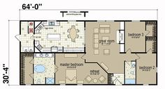 Floor Plans: Spring Arbor 3268 05 - Manufactured and Modular Homes 1945 Sq Ft