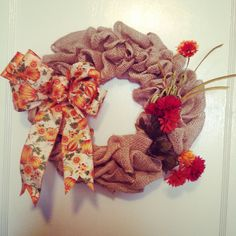Another handmade fall wreath