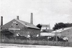 Helsingør Fællesbageri på Gammel Banegårdsvej 1908. Forrest ser man bageriets fem hestevogne,