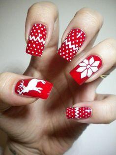 Christmas nail art - lush