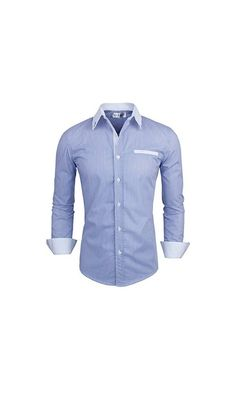 39.99$ - Tom s Ware Mens Classic Vertical Striped Fake Pocket Longsleeve Shirt TWCMS01-BLUE-US S from Tom s Ware- A classic fit shirt featuring a vertical stripe pattern. Basic collar. Patch chest pocket. Long sleeves with button cuffs. Full button placket. Woven. Unlined. Lightweight.   This style is slim fit and produce in standard USA size and this is the newest update style designed by Tom s ware Brand.   This is our Tom s Ware size chart for(click on picture to read more...)