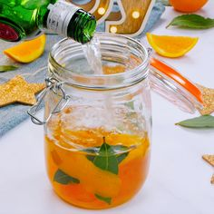 This marmalade and bay gin tastes incredible after being left to infuse for around 2 weeks. The boozy combination also works well with vodka. Gin Bar, Vodka Recipes, Alcohol Recipes, Flavoured Gin, Infused Vodka, Cocktail Videos, Gin Tasting, Homemade Liquor, Cocktails