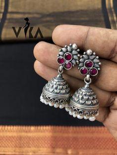 925 pure silver antique jhumka