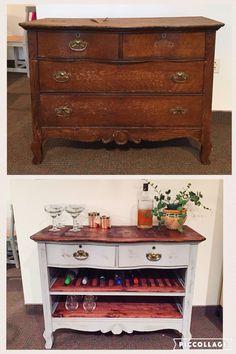 Antique Dresser to Wine Bar #diy