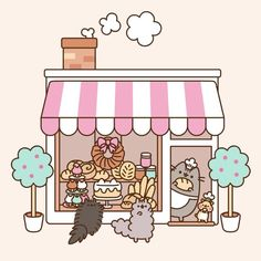 """Pusheen (@pusheen) on Instagram: """"Pusheen is teaming up with @GeniusKitchen!  This month we'll be rolling out adorable Pusheen-…"""""""