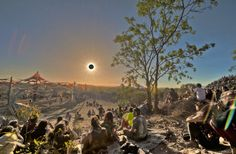 Total Eclipse at a psytrance festival north west of Cairns, Australia, 2012.