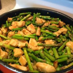 Healthy Pinterest Recipes and Reviews: Simple Skinny Chicken and Asparagus Stir Fry