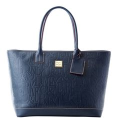 Dooney & Bourke: DB Retro Embossed Leather Medium Russel Bag